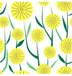 simple seamless pattern yellow flowers vector image