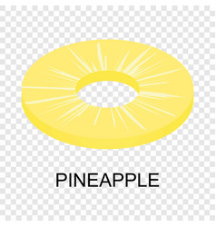 Sliced pineapple icon isometric style vector