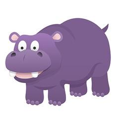 Smiling hippopotamus vector