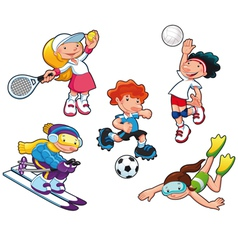 Sport characters vector image