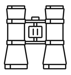 theatre binocular icon outline style vector image