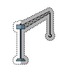 Tower crane service icon vector