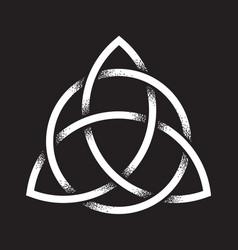 triquetra dot work ancient pagan symbol vector image