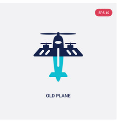 two color old plane icon from airport terminal vector image