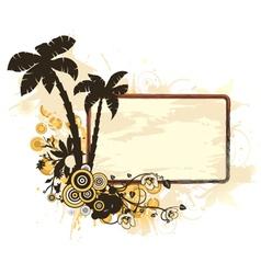 Vintage summer frame vector