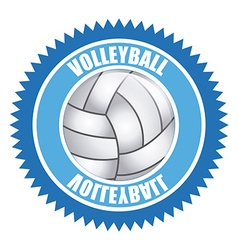 volleyball emblem design vector image