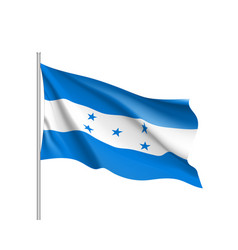waving flag of honduras vector image