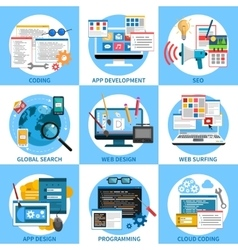 Web Development Concept Set vector image