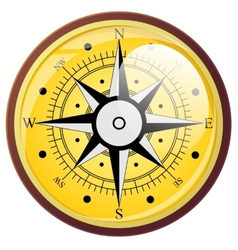 Wind rose compass flat symbols vector image