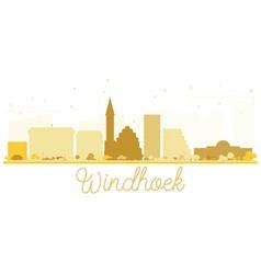 Windhoek City skyline golden silhouette vector