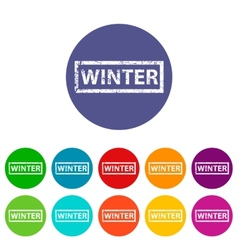 Winter flat icon vector image