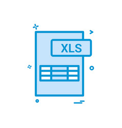 xls file format icon design vector image