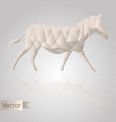 Abstract triangular horse vector image vector image