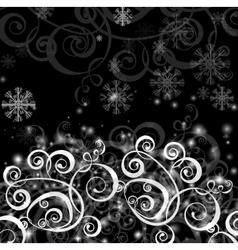 Elegant christmas black and white background vector image