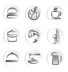 foods icons vector image