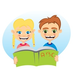 Learning together vector image