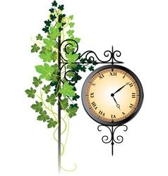 street clock vector image