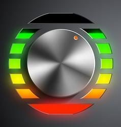 Round metal regulator vector image vector image