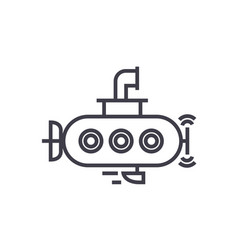 submarine line icon sign on vector image