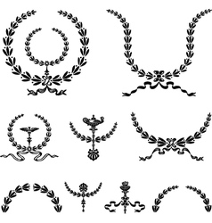 Wreath and Ornament vector image vector image