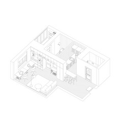 interior drawing of the apartment vector image vector image