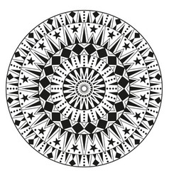 round ethnic ornament mandala can be used for vector image vector image