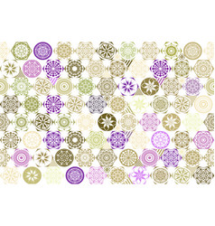 seamless patchwork background from brown pink and vector image