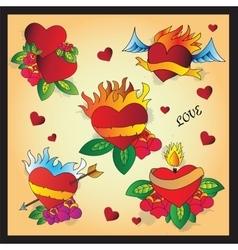 Heart Tattoo Design vector image
