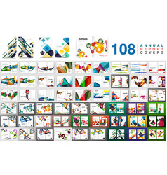 mega collection of business annual report brochure vector image