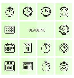 14 deadline icons vector