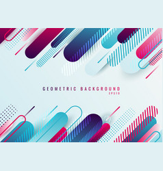 Abstract blue and pink geometric rounded line vector