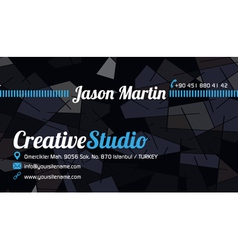 Abstract business card blue vector image