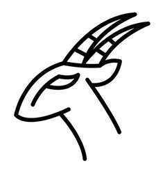 Africa gazelle icon outline style vector