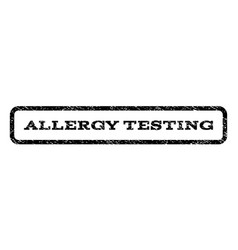 Allergy testing watermark stamp vector