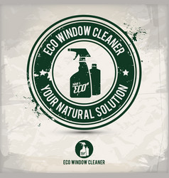 alternative eco friendly window cleaner stamp vector image