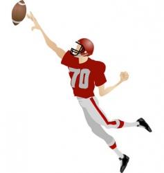 American footballer vector image