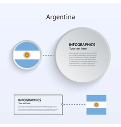 Argentina country set banners vector