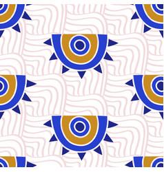 aztec evil eyes seamless pattern vector image