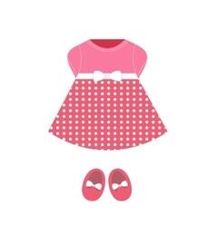 Baby dress vector