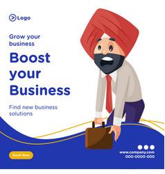 Banner design grow your business vector