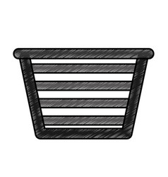 basket for laundry clothes vector image
