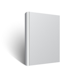 blank book mockup eps vector image