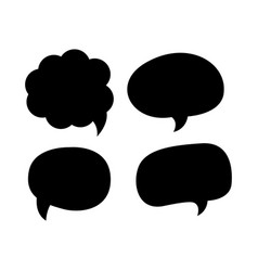 blank empty black speech bubbles icon concept vector image
