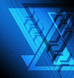 blue delta background vector image