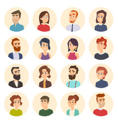 Business avatars colored web pictures of male vector