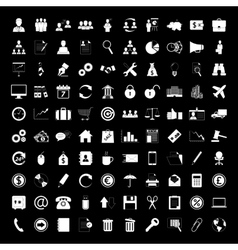 business icons set human resource finance vector image