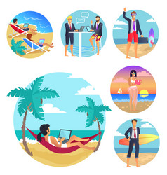 Business trip vacations poster vector