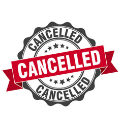 Cancelled stamp sign seal vector