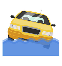car water accident auto road collision disaster vector image