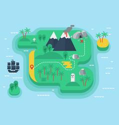Cartoon funny pirates island flat vector
